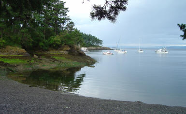 Beautiful Shallw Bay On Sucia Island's West Side