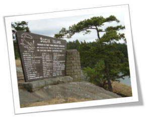 Sucia Island Marine Park Sign Lists Those Responsible For The Establishment Of The Park