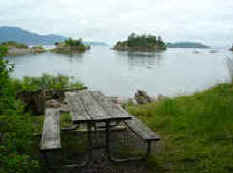Picnic Table Overlooking Ewing Cove - Sucia Island Marine Park Washington