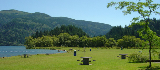Waterfront Marina Park Is A Popular Picnic & Swimming Area