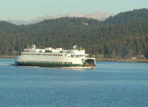Washington State Ferry System - Washington State Ferry Near Orcas Island PHOTO