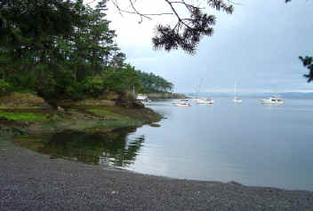 Beach In Shallow Bay  - Sucia Island