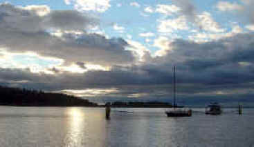 Echo Bay Sunrise Photo - Sucia Island Marine Park Washington