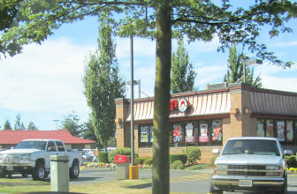 Wendy's Hamburger Restaurant In Bellingham Wa across the Guide Meridian From Walmart